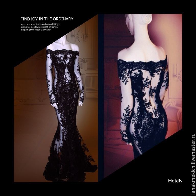 Black lace long dress Queen of spades, Dresses, Moscow,  Фото №1