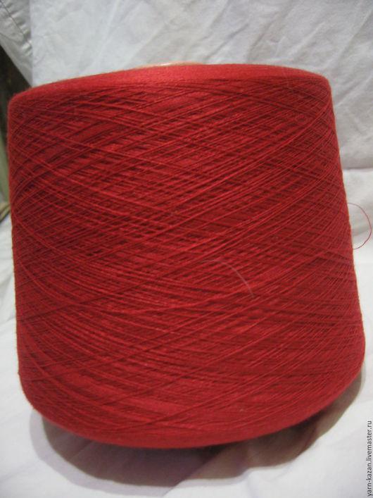 Вязание ручной работы. Ярмарка Мастеров - ручная работа. Купить Лен+шелк+кашемир LORO PIANA. Handmade. Ярко-красный, пряжа на бобинах