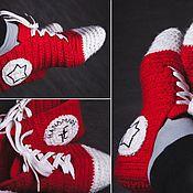 Обувь ручной работы. Ярмарка Мастеров - ручная работа Конверсы. Handmade.