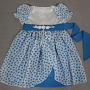 Работы для детей, ручной работы. Ярмарка Мастеров - ручная работа Платье для девочки Снежинка нарядное. Handmade.