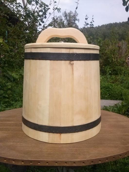 Кухня ручной работы. Ярмарка Мастеров - ручная работа. Купить кадка для солений 10 литров. Handmade. Бежевый, Деревянная посуда