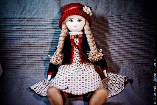 Коллекционные куклы ручной работы. Ярмарка Мастеров - ручная работа. Купить текстильная кукла Эльвира. Handmade. Коричневый