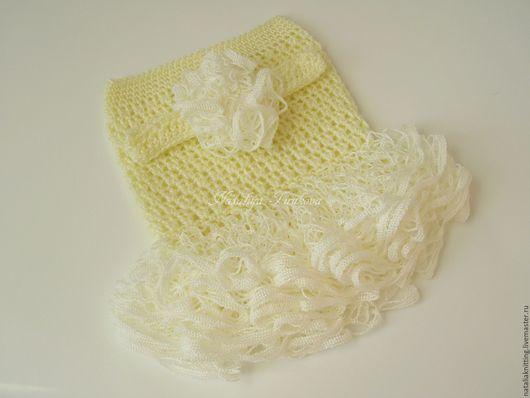 Для новорожденных, ручной работы. Ярмарка Мастеров - ручная работа. Купить Сарафан с повязкой для фотосессии. Handmade. Платье для девочки
