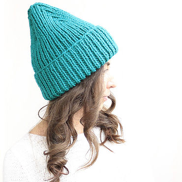 Accessories handmade. Livemaster - original item Hat knitted emerald. Handmade.
