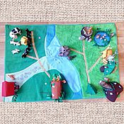 """Куклы и игрушки ручной работы. Ярмарка Мастеров - ручная работа Развивающий коврик  к набору """"Животные леса"""" от Deagostini. Handmade."""