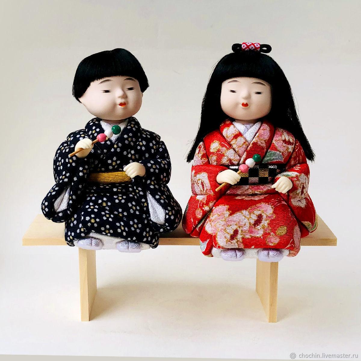 Первая любовь - интерьерные коллекционные куклы кимекоми Хина мацури, Куклы и пупсы, Москва,  Фото №1