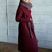 Одежда ручной работы. Ярмарка Мастеров - ручная работа Пальто  двухстороннее СOZY BORDEAUX. Handmade.