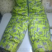 Одежда ручной работы. Ярмарка Мастеров - ручная работа Детский комбинезон зелёный. Handmade.