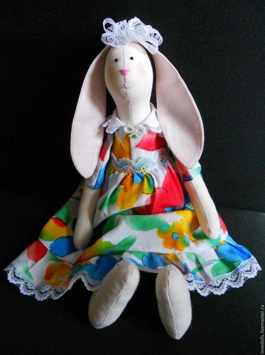 Куклы Тильды ручной работы. Ярмарка Мастеров - ручная работа. Купить Заяц Тильда.. Handmade. Бежевый, кукла Тильда, подарок