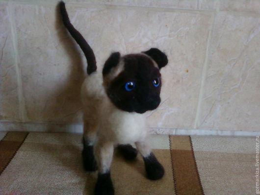 Игрушки животные, ручной работы. Ярмарка Мастеров - ручная работа. Купить Сиамская кошка Матильда. Handmade. Бежевый