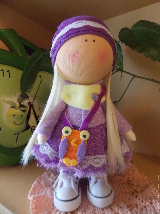 Куклы тыквоголовки ручной работы. Ярмарка Мастеров - ручная работа. Купить Кукла Фиолетта. Handmade. Фиолетовый, волосы для кукол