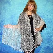 Wraps handmade. Livemaster - original item Lace shawl,wedding shawl,white scarf,hand knit shawl,warm wrap. Handmade.