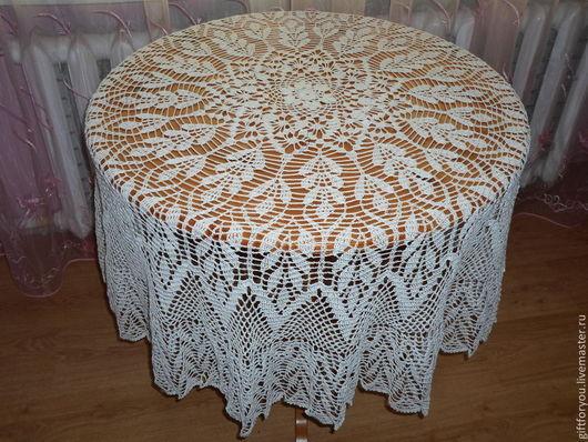 Текстиль, ковры ручной работы. Ярмарка Мастеров - ручная работа. Купить Скатерть круглая.. Handmade. Белый, ажурная, праздничный стол