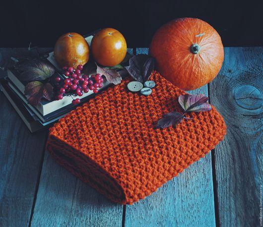 Шарфы и шарфики ручной работы. Ярмарка Мастеров - ручная работа. Купить Шарф женский. Handmade. Оранжевый, шарф шерстяной, яркий