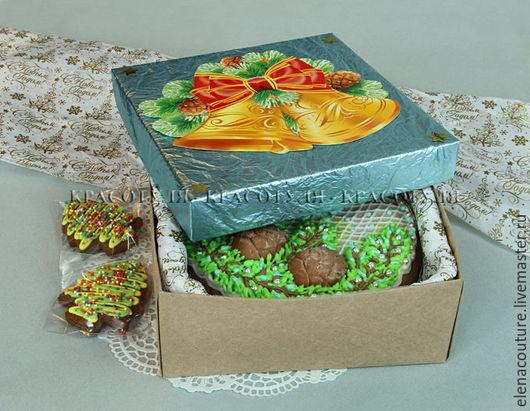 Пряник `С Новым Годом` домашнего приготовления,с начинкой из орех,сухофруктов,джема и цукатов