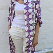 """Одежда ручной работы. Ярмарка Мастеров - ручная работа Платье-рубашка CozyFashion """"Лавандовый принт"""". Handmade."""