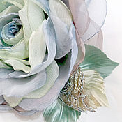 Украшения handmade. Livemaster - original item FABRIC FLOWERS. Chiffon rose brooch