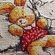 """Детская ручной работы. Вышивка крестом"""" Мой зайка"""". Соломкина Наталья. Интернет-магазин Ярмарка Мастеров. Девочке, подарок"""