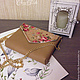 Женские сумки ручной работы. Сумочка через плечо №56 с цветами. Chere-turtle. Интернет-магазин Ярмарка Мастеров. Цветочный