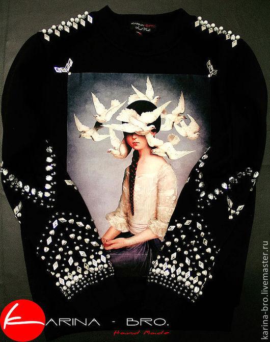 """Кофты и свитера ручной работы. Ярмарка Мастеров - ручная работа. Купить Свитшот """"Мечты"""". Handmade. Свитшот, мода, бисер, бисер"""