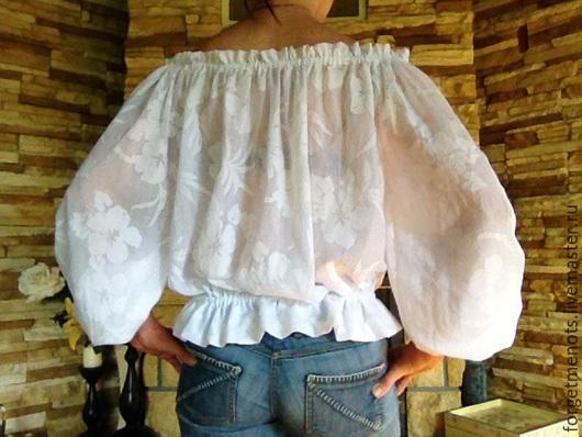 """Блузки ручной работы. Ярмарка Мастеров - ручная работа. Купить Блузка из батиста """"Нежнее нежного"""". Handmade. Белый, белая блузка"""