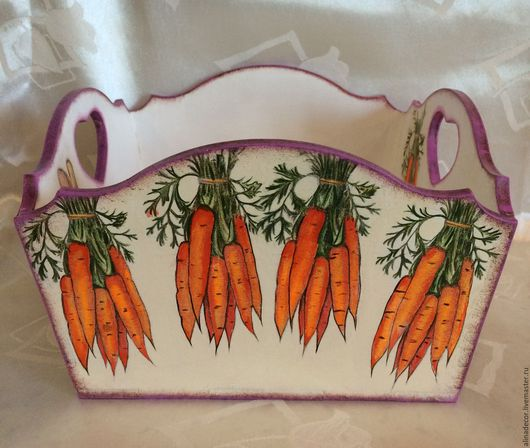 Кухня ручной работы. Ярмарка Мастеров - ручная работа. Купить Хлебница морковная. Handmade. Комбинированный, подарок на любой случай