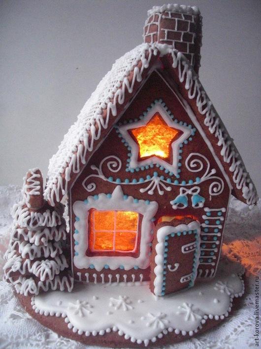 Кулинарные сувениры ручной работы. Пряничный домик ` Скоро Новый год!`-замечательный подарок Рождеству или Новому году. ПРЯНИЧКИ ОТ ТАНЕЧКИ.  Ярмарка Мастеров.