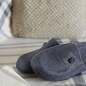 """Тапочки ручной работы. Ярмарка Мастеров - ручная работа """"Бунгало"""" мужские валяные тапочки. Handmade."""