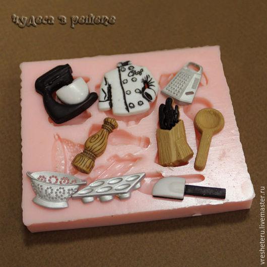 Материалы для косметики ручной работы. Ярмарка Мастеров - ручная работа. Купить Кухня, силиконовая форма (молд ОРМ-105). Handmade.