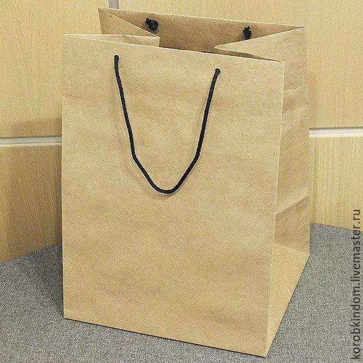 Упаковка ручной работы. Ярмарка Мастеров - ручная работа. Купить Крафт-пакет 27х36х23 с ручками веревочными. Handmade. Пакет