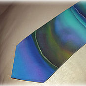 Аксессуары handmade. Livemaster - original item Silk designer necktie Northern Lights.. Handmade.