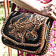 Leather women's bag 'Japanese furious dragon'. Classic Bag. schwanzchen. My Livemaster. Фото №5