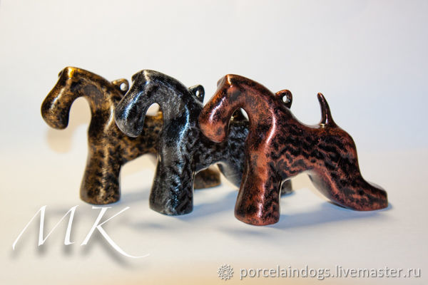 Set of Christmas toys ' Stylish dogs', Christmas decorations, Moscow,  Фото №1