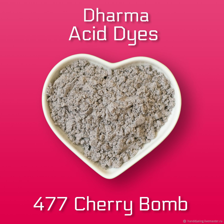 Краситель 477 Cherry Bomb, Dharma Acid Dyes, Материалы для валяния, Севастополь,  Фото №1