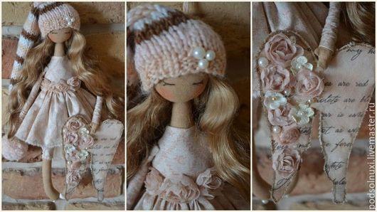 Коллекционные куклы ручной работы. Ярмарка Мастеров - ручная работа. Купить ФЕЯ СЧАСТЬЯ. Handmade. Розовый, с любовью, подарок женщине