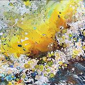 """Картины и панно ручной работы. Ярмарка Мастеров - ручная работа Абстрактная картина """"Волна на горячем песке"""". Handmade."""