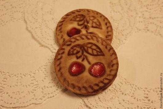 """Мыло ручной работы. Ярмарка Мастеров - ручная работа. Купить Мыло """"Печенье """"Вишенка""""(3 штуки). Handmade. Мыло печенье"""
