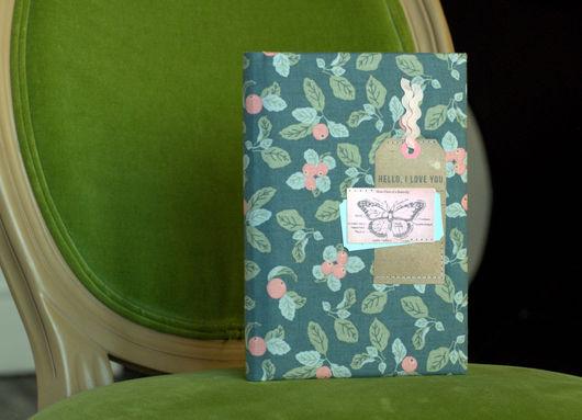 Блокноты ручной работы. Ярмарка Мастеров - ручная работа. Купить Блокнот ручной работы Бабочка, Butterfly. Handmade. Морская волна