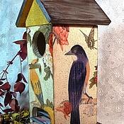 """Для дома и интерьера ручной работы. Ярмарка Мастеров - ручная работа """"Сад под дождем"""" домик для чайных пакетиков. Handmade."""