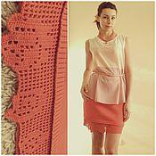 """Одежда ручной работы. Ярмарка Мастеров - ручная работа вязаная юбка """"Розы"""". Handmade."""