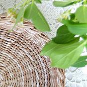 Для дома и интерьера ручной работы. Ярмарка Мастеров - ручная работа Плетеный поднос Меланж. Handmade.