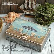 """Для дома и интерьера ручной работы. Ярмарка Мастеров - ручная работа Чайный короб """"Brighton"""". Handmade."""