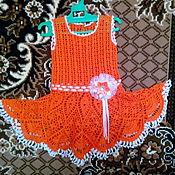 Платья ручной работы. Ярмарка Мастеров - ручная работа Платье Апельсинка. Handmade.