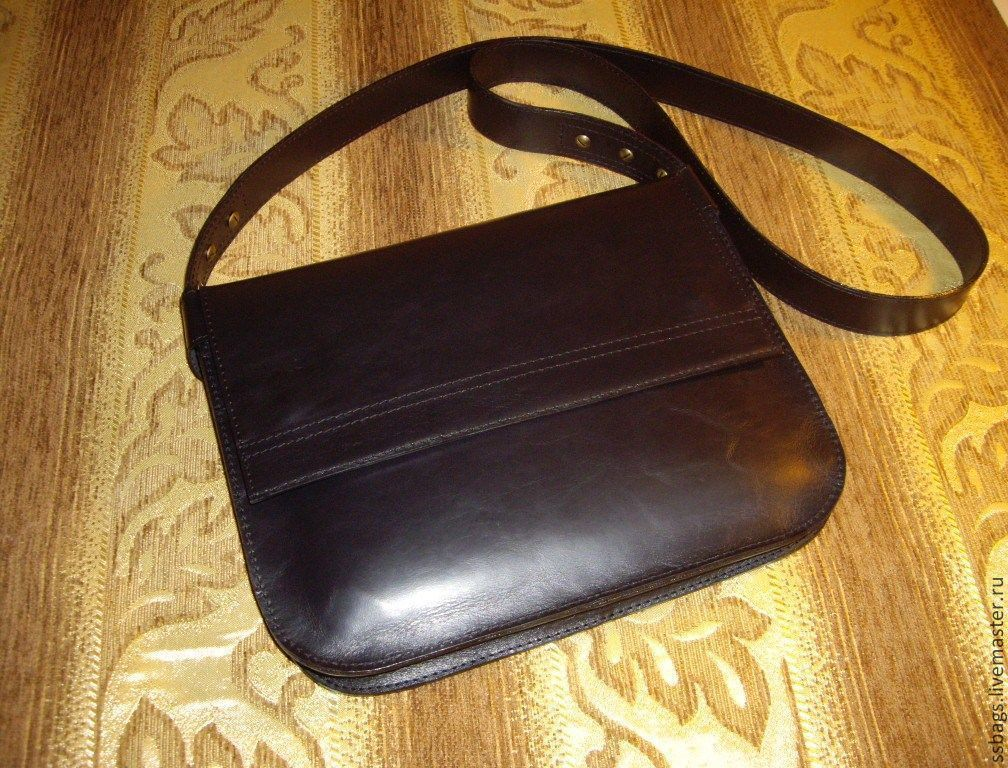 Women's leather bag. Black. to buy a bag .genuine leather, Classic Bag, St. Petersburg,  Фото №1