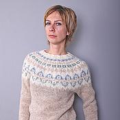 Одежда ручной работы. Ярмарка Мастеров - ручная работа Исландский свитер из плоту-лопи. Handmade.