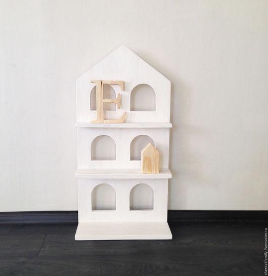 Мебель ручной работы. Ярмарка Мастеров - ручная работа. Купить Деревянный домик - полка. Handmade. Белый, деревянный домик