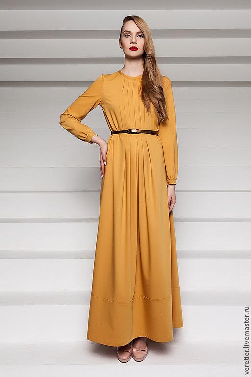 Платья ручной работы. Ярмарка Мастеров - ручная работа. Купить Платье LDY. Handmade. Желтый, платье, вечернее платье, стиль