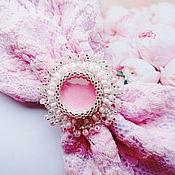 Украшения handmade. Livemaster - original item Barrette White pink Bow. Handmade.