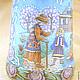 """Миниатюра ручной работы. Ярмарка Мастеров - ручная работа. Купить Наперсток фарфоровый """"Снежная королева"""". Handmade. Бирюзовый, керамические краски"""