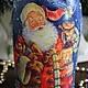 """Новый год 2017 ручной работы. Новогодняя бутылка """"Дед Мороз - красный нос"""". Некрасова Екатерина (katxarina). Интернет-магазин Ярмарка Мастеров."""